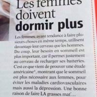 Les femmes, des feignasses?...