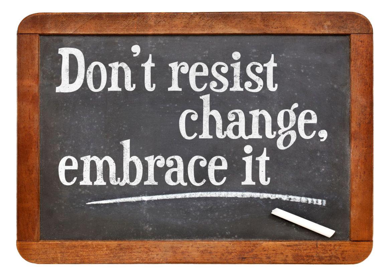 Embrace Change Chalkboard