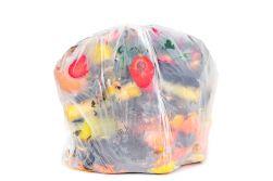 Food waste in trash bag