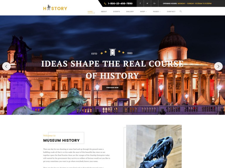 history wordpress theme premium
