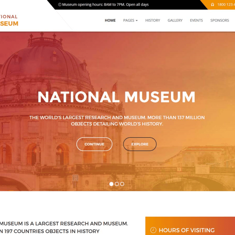 national museum wordpress theme premium