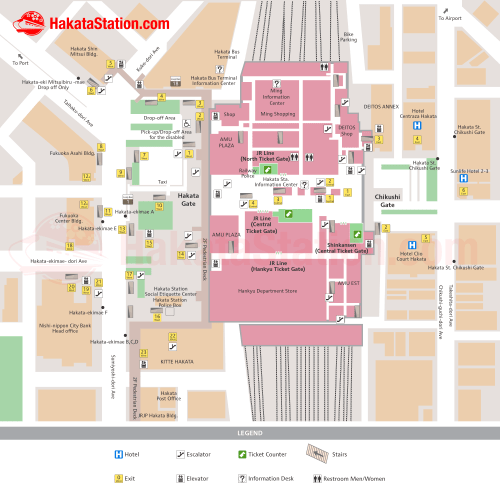 small resolution of hakata station map