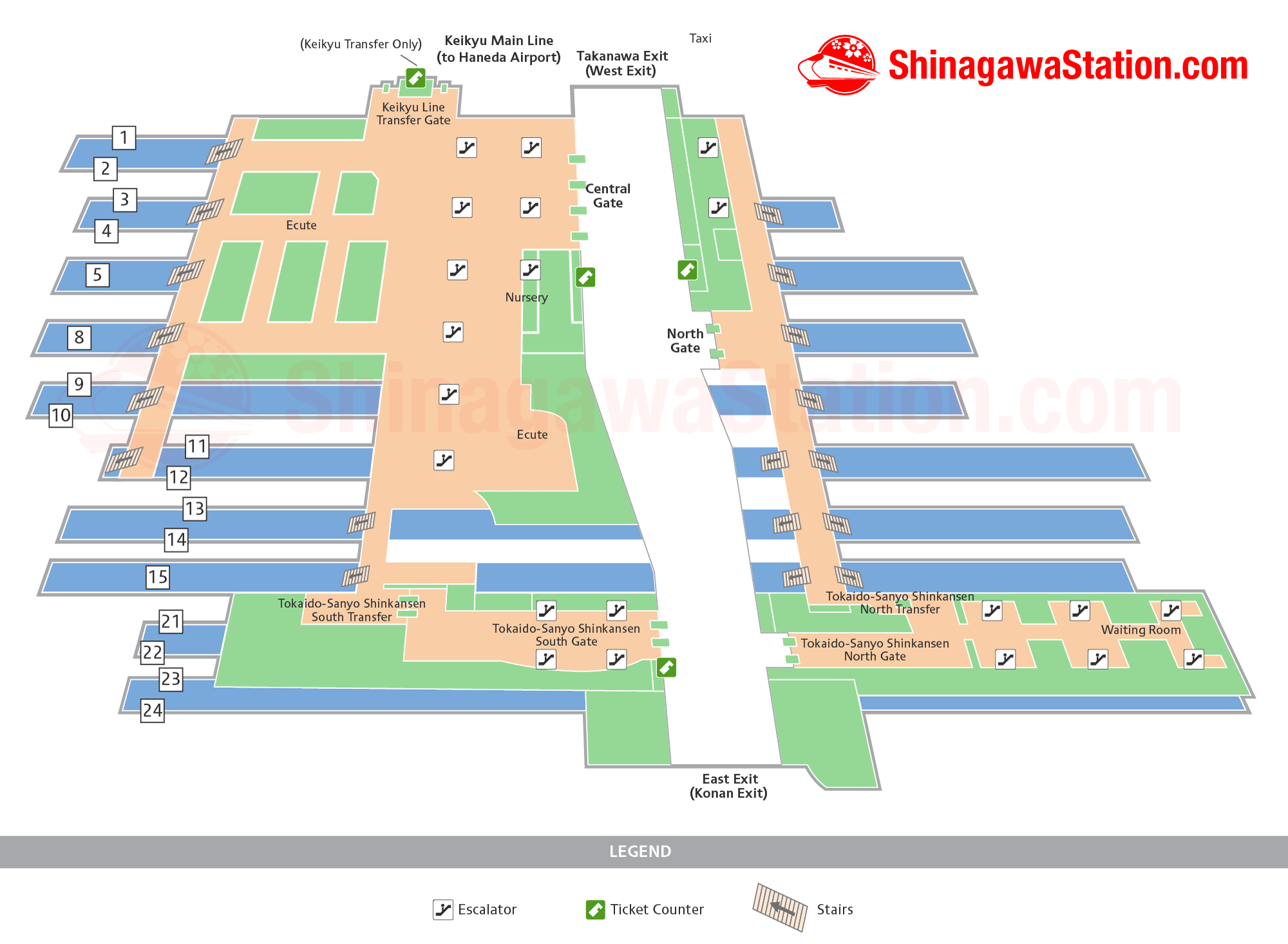 Shinagawa Station Map Finding Your Way Shinagawa Station