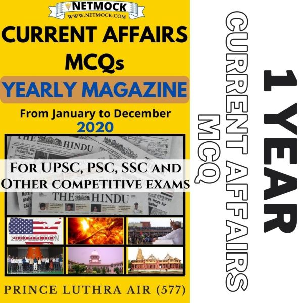 Current Affairs MCQs for UPSC 2021