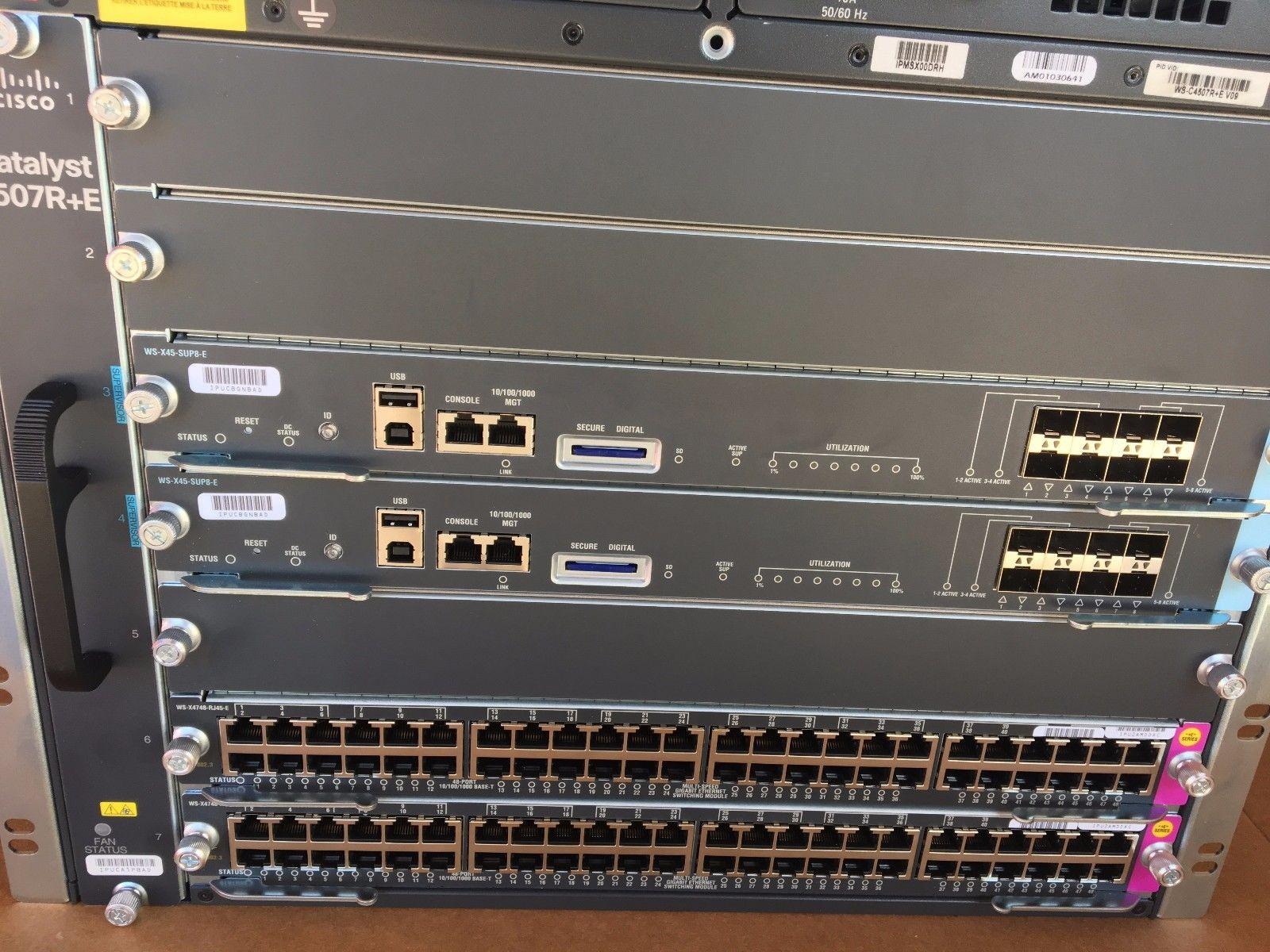 Cisco WSC4507RE Chassis 2x WSX45SUP8E Supervisor Engines