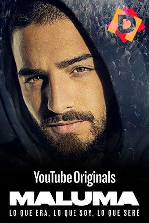 Maluma - Lo Que Era Lo Que Soy Lo Que Seré . Primer plano de la cara del cantante de trap Maluma con capucha