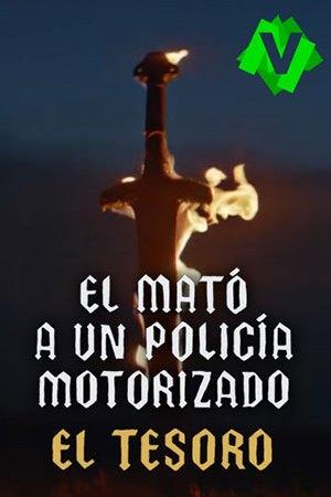 El Mató A Un Policía Motorizado - El Tesoro. Espada en llamas sobre cielo oscuro