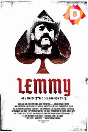 Lemmy - El Documental - Carta de poker del As de Picas con la cara de Lemmy Kilmister con sombrero dentro de la pica