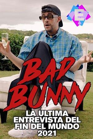 Bad Bunny - Entrevista 2021. El rapero Bad Bunny sentado en un jardin