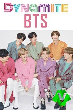 los 7 chicos de bts sonrientes y con camisas de colores llamativos