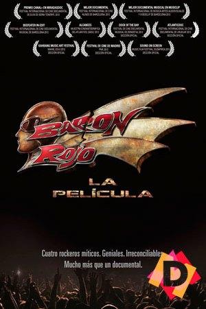 Barón Rojo - La Película -Logo de baron rojo el metal con fondo negro
