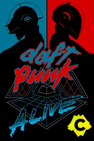 daft punk en rojo y azul