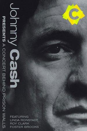 Johnny Cash - A Concert Behind Prison Wall. Jonny Cash en primer plano en blanco y negro