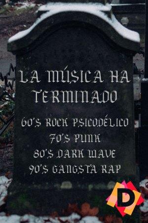 La Música Ha Terminado, una tumba de un cementerio