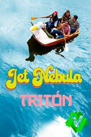 los companentes de jet nebula en un bote sobre agua calmada