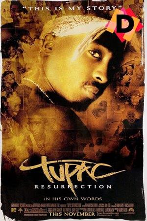 Tupac Resureccion. Tupac Shakur en primer plano