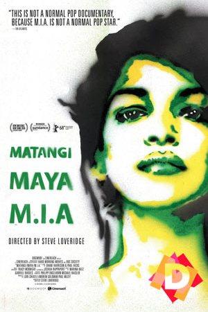 MATANGI / MAYA / M.I.A. (Documental). M.i.a. dibujada en negro y verde