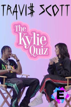 """Travis Scott - Entrevista """"The Kylie Quiz"""" 2018. Kylie Jenner y Travis Scott sentados"""