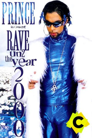 Prince - Concierto Rave Un2 The Year 2000, Minneapolis 1999, prince vestido de azul brillante