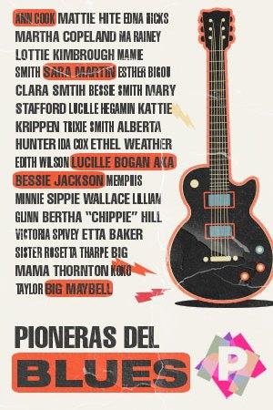 Pioneras del Blues. guitarra eléctrica blues