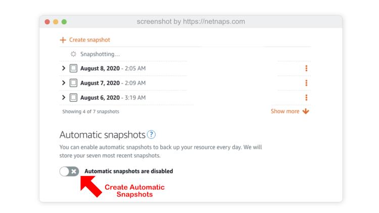 create_automatic_snapshots