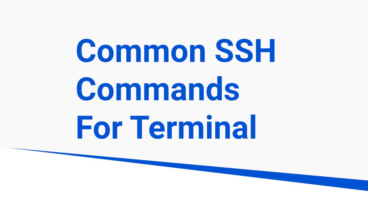 common ssh commands