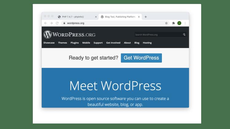 wordpress on localhost