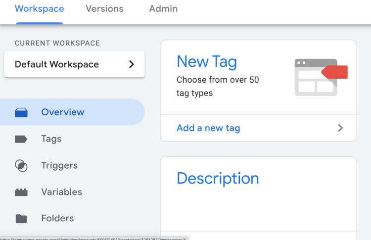 add new tag in container