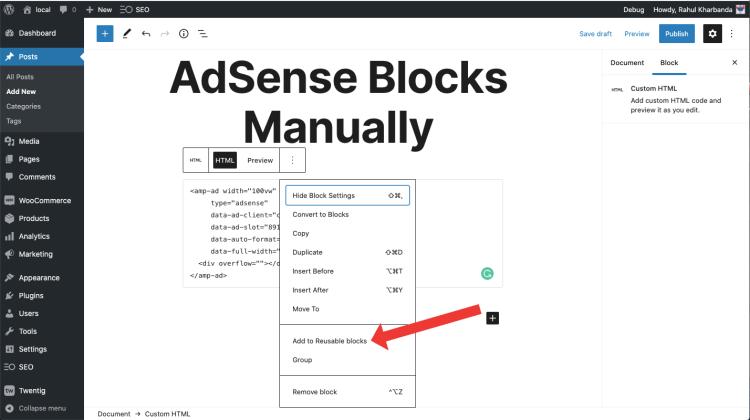 reusable html blocks