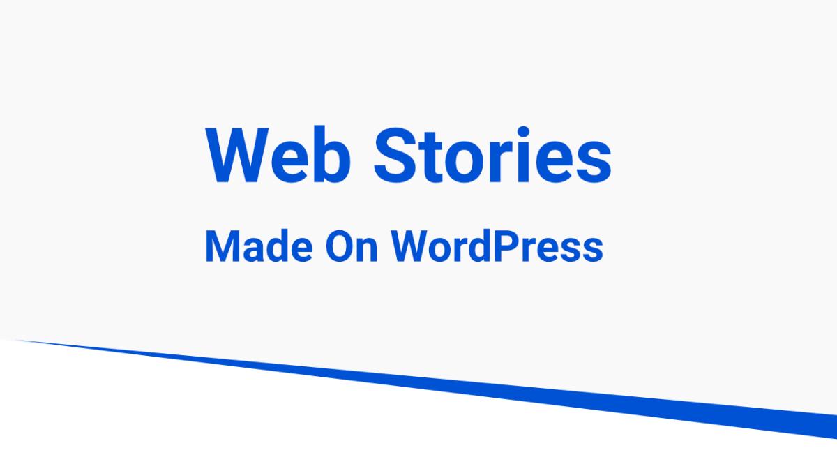 webstories on wordpress