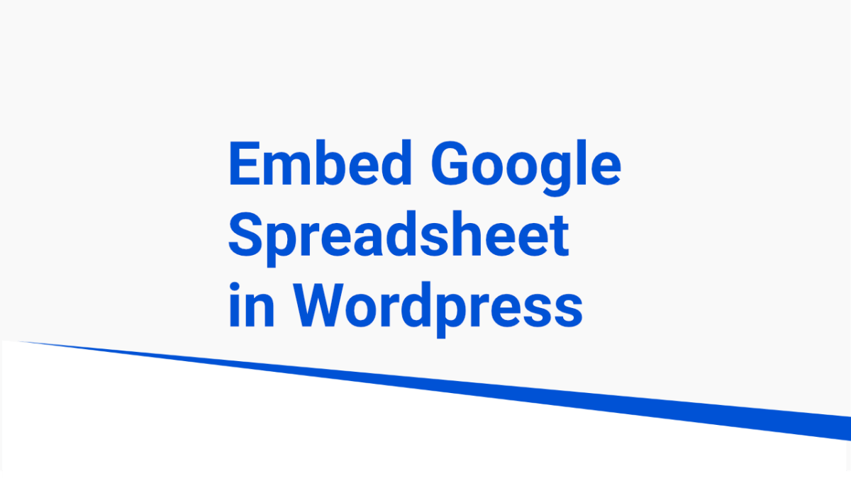 embed spreadsheet