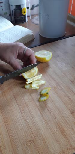 Step 2 - Slice a whole lemon