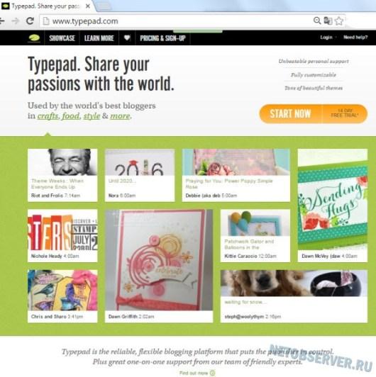 Typepad профессиональная блог-платформа