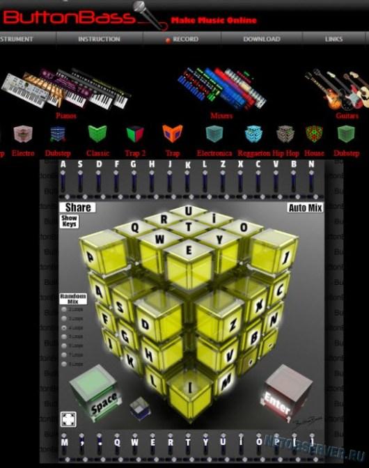Музыкальный куб от Buttonbass