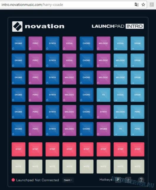 Онлайн лаунчпад - демо от Novation