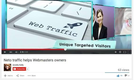 netotraffic video in youtube