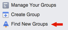 find new groups