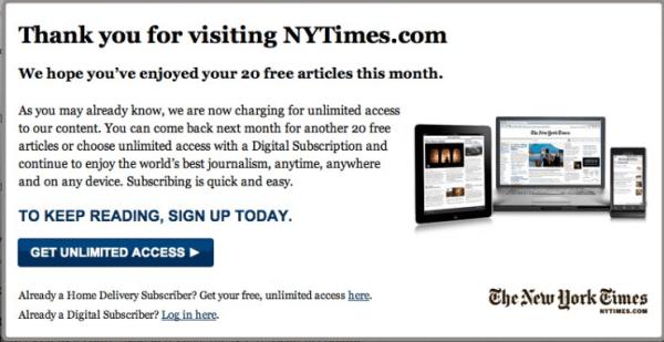 Paywall NY times