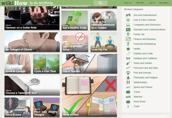 wikihow page