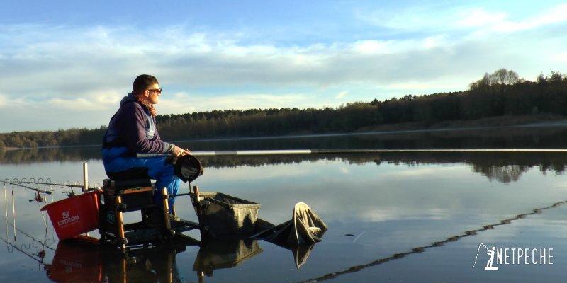 choisir son poste pour la pêche de gardons en lac