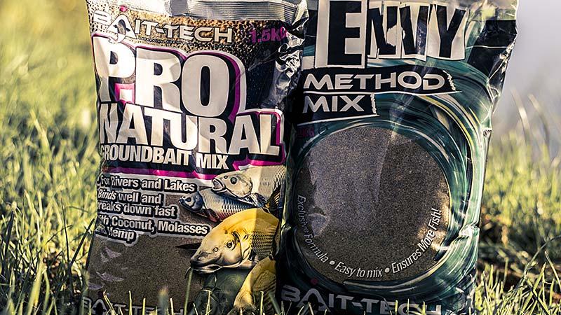 amorces bait-tech pro natural et envy method mix