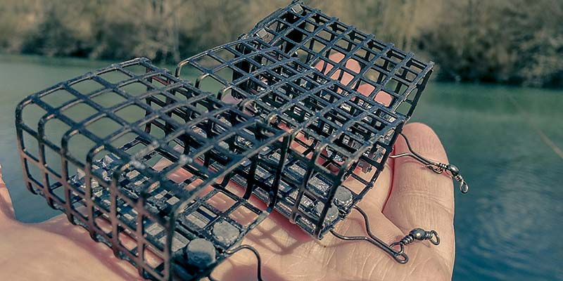 cage feeder rectangle pour la peche au feeder en riviere