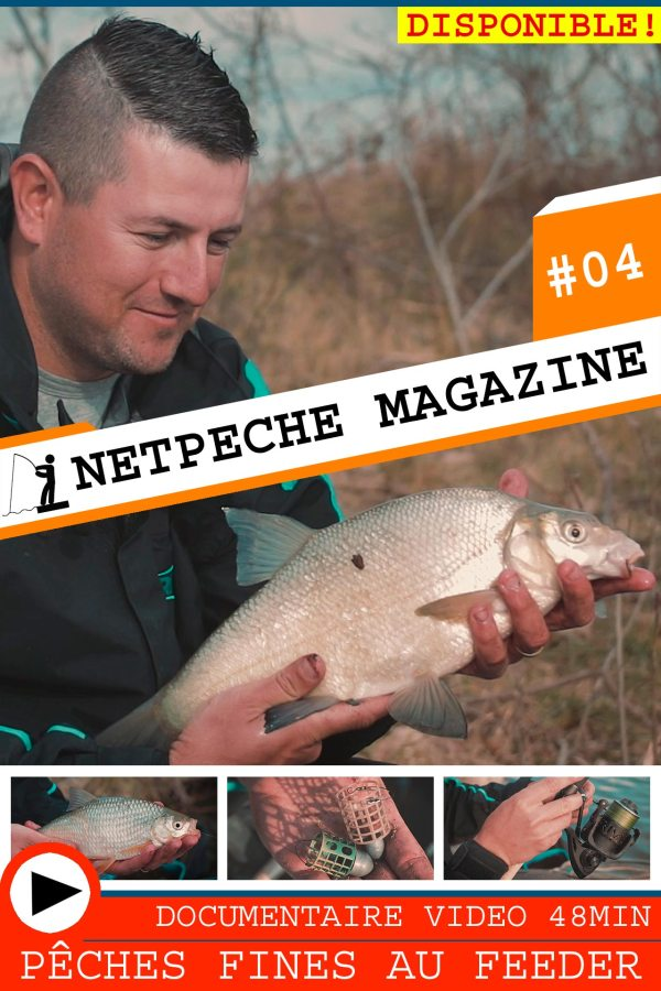 affiche netpeche magazine 04 - pêche fine technique au feeder