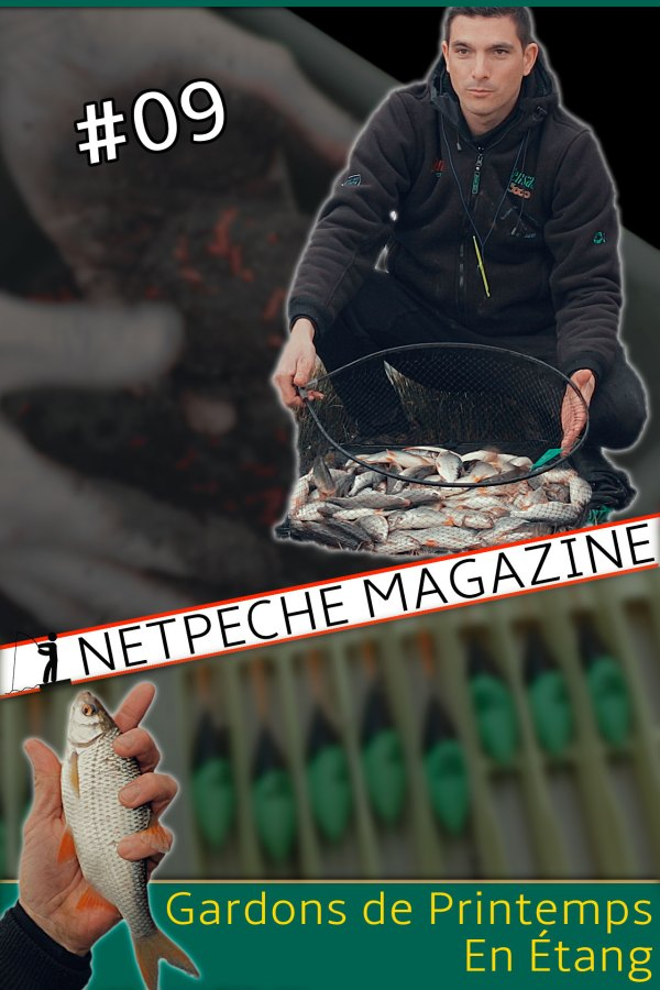 netpeche magazine 9 - pêche des gardons en étang ua printemps à l'ouverture avec Julien Turpin