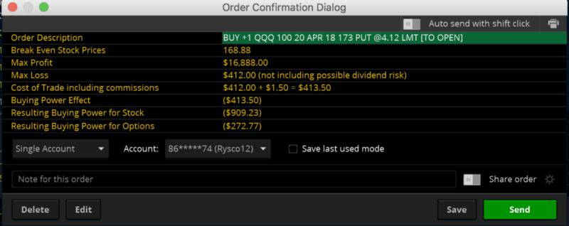 QQQ Order Confirm