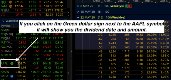 dividend date and amount