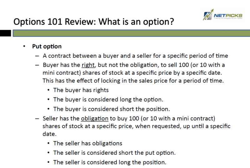 WHAT IS A PUT OPTIONS