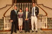 The Delaware Tennis Hall of Fame: Inductees Mark Centrella, Monique Holloway, Don Altmaier and Bryan Sauer.