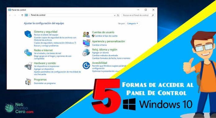 Dónde esta el Panel de control Windows 10