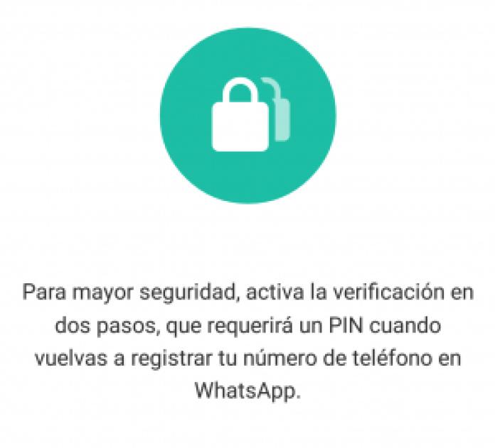 verificación en 2 pasos de whatsapp
